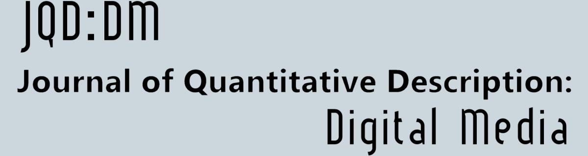 Journal of Quantitative Description: Digital Media
